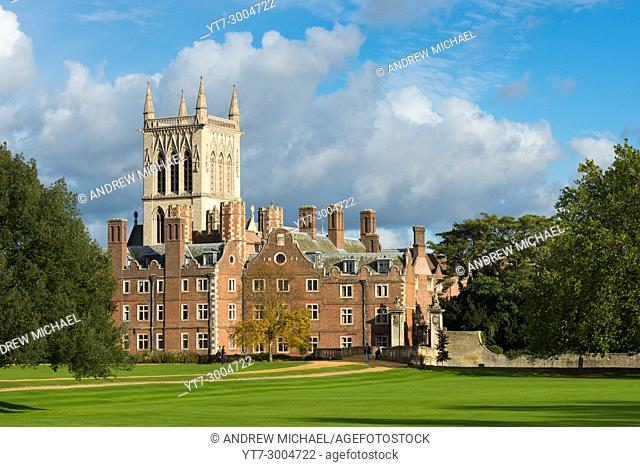 St Johns College and chapel, Cambridge University, England