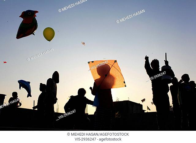 Shakrain Festival also known as Kite festival is an annual celebration of winter in Bangladesh, observed with the flying of kites