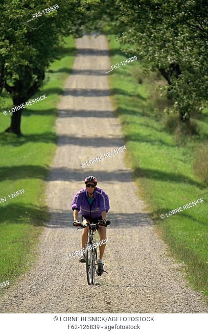 Man riding bike, Stock Photo, Picture And Rights Managed Image  Pic