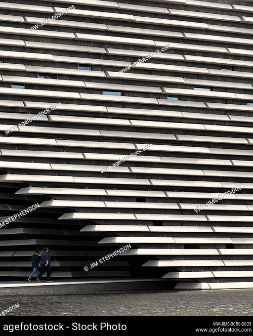 Main entrance. V&A Dundee, Dundee, United Kingdom. Architect: Kengo Kuma and Associates, 2018