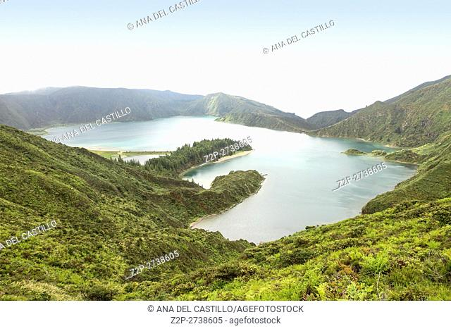 Fogo lagoon Sao Miguel island Azores Portugal