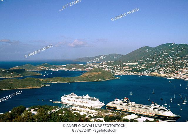 Charlotte Amalie harbour. Saint Thomas. US Virgin Islands. West Indies. Caribbean