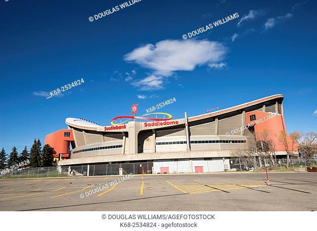 The Scotiabank Saddledome, Calgary Stampede grounds, Calgary, Alberta, Canada