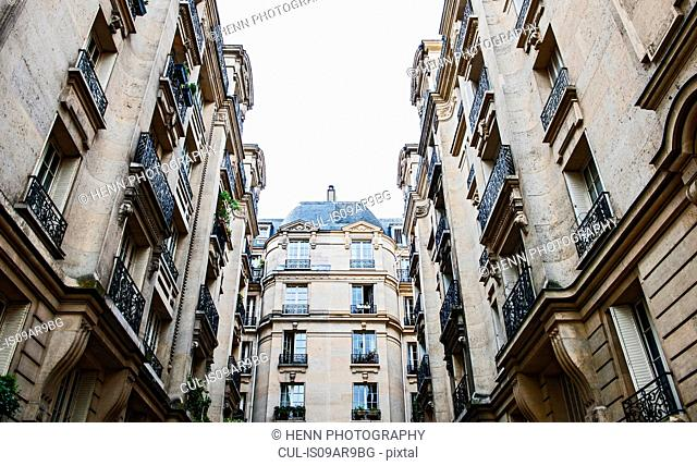 Typical Haussmann buildings, Paris, France