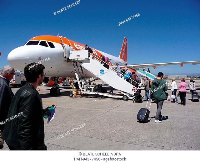 Capodichino Airport in Naples, Campania, Italy, pictured 30 April 2017. Photo: Beate Schleep | usage worldwide. - Neapel/Kampanien/Italy