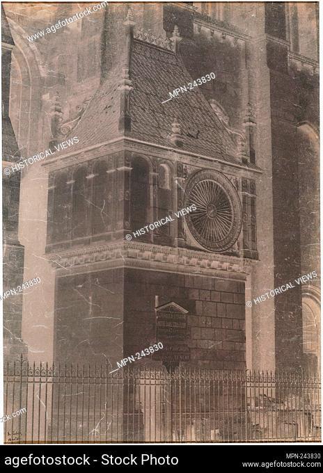 Untitled (Chartres Cathedral, Pavillon de l'horloge) - 1851/52 - Henri Le Secq French, 1818–1882 - Artist: Henri Le Secq, Origin: France, Date: 1851–1852