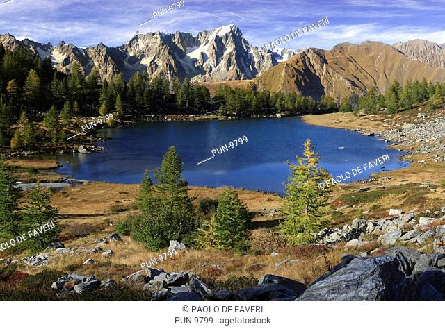 The Arpy Lake is a glacial lake placed at the center of a beautiful plateau at more than 2000 meters of altitude in Valdigne