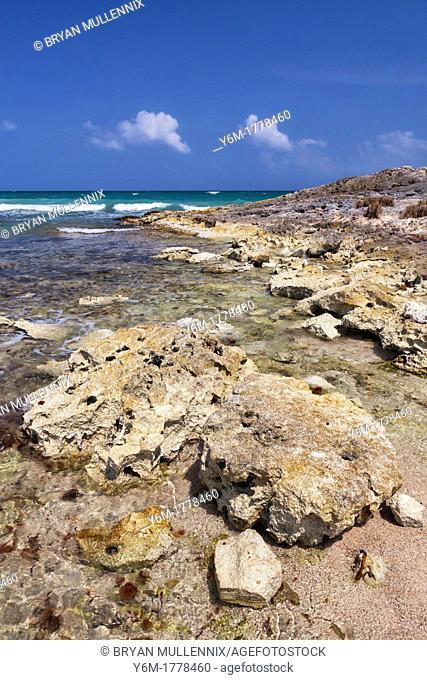 Rocky Shoreline, Tulum, Yucatan Peninsula, Quintana Roo, Mexico