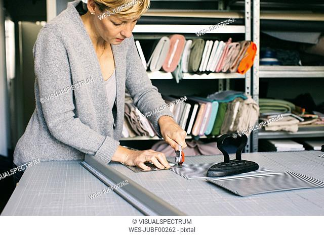 Fashion designer working on template