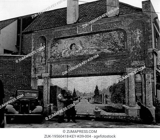 Apr 18, 1956 - Hounslow, England, United Kingdom - A painting of a woman on a wall, 30' x 19' high, led a claim for damages and an injunction at Brentford...