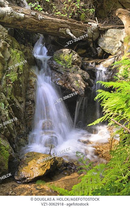 Waterfall on Old Coast Road from Bixby Bridge to Big Sur