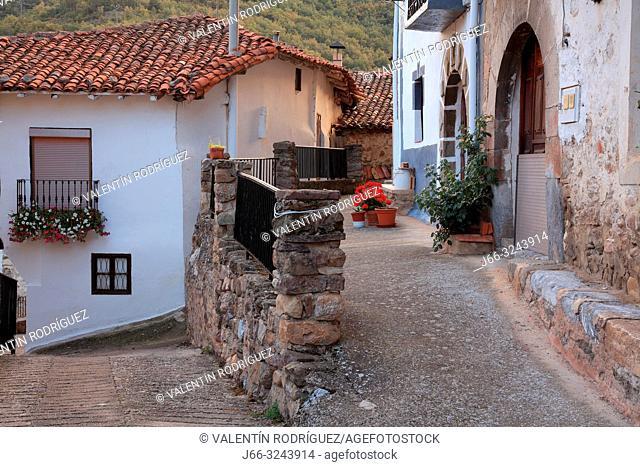 Street in Villanueva de Cameros. La Rioja