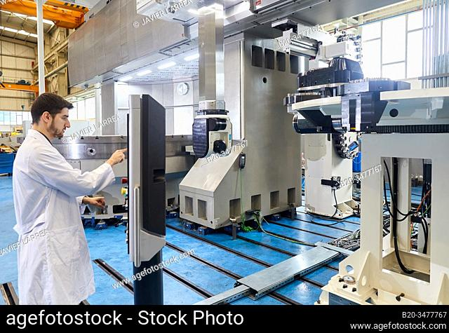 Machining Centre, CNC, Vertical turning and Milling lathe. Design, manufacture and installation of machine tools, Metal industry, Mechanical workshop
