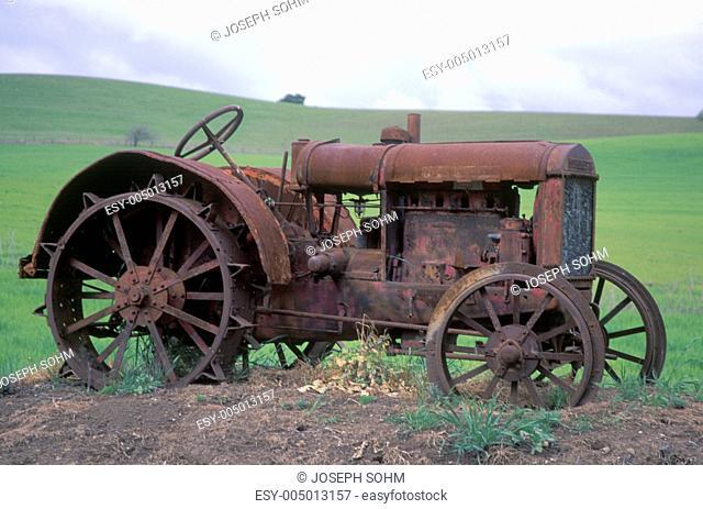 Rusty tractor near Paso Robles, CA
