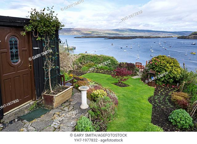 Coastal Garden at Tobermory, Isle of Mull, inner hebrides, Scotland,