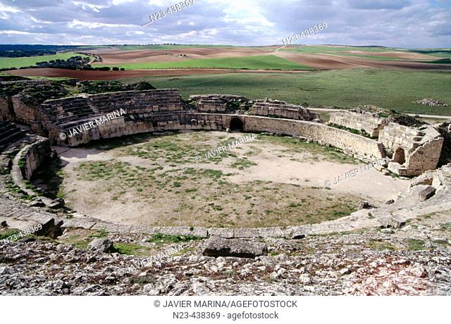 Roman amphitheather, Segobriga archeological site. Cuenca province, Castilla-La Mancha. Spain