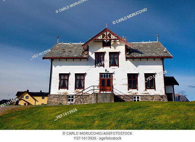 Traditional wooden house in Andenes village, Andøya island, Vesterålen archipelago, Troms Nordland county, Norway
