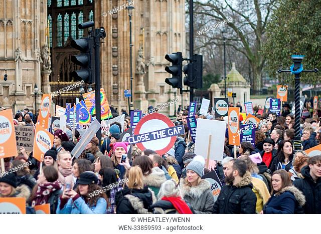 Musicians, activists, actors, politicians and the Mayor of London among the marchers for CARE International's annual march ahead of International Women's Day