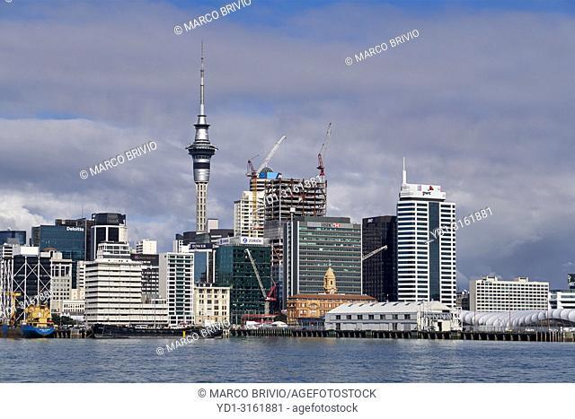 The skyline of Auckland New Zealand