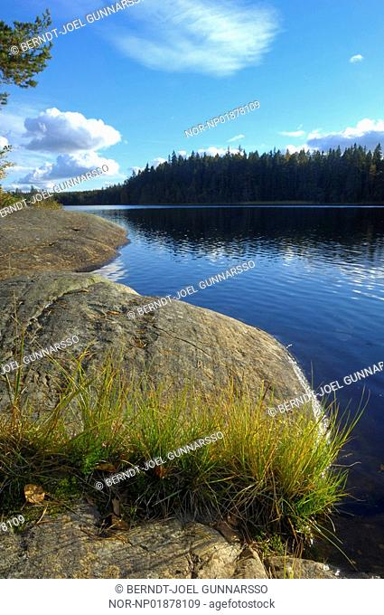 Sweden - Cliffs on the lakeside