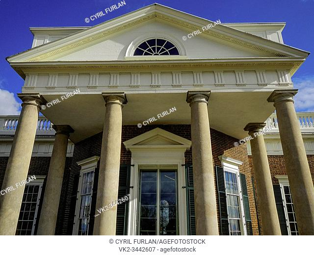 Front entrance of Monticello President Thomas Jeffersons Home , Charlottesville Virginia