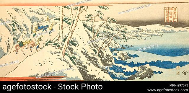 Author: Totoya Hokkei. Mount Satta in Suruga Province (Suruga Sattayama), from the series 'Famous Places in the Provinces (Shokoku meisho)' - c