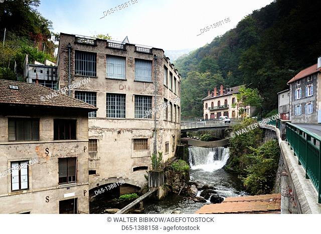France, Puy-de-Dome Department, Auvergne Region, Thiers, cutlery capital of France, old manufacturing valley machinery, Creux-de-l'Enfer rapids