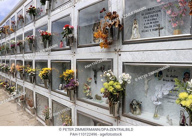 Cemetery (Cementerio Municipal) in Buenavista del Norte in the northwest of the Canary Island of Tenerife, recorded on 22.09.2018. | usage worldwide