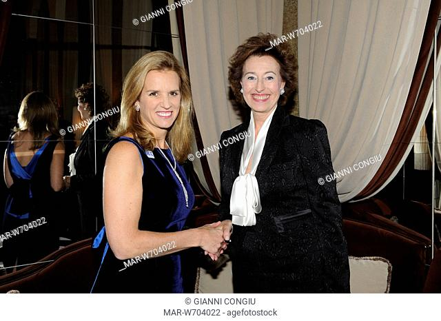 mary kerry kennedy, kerry kennedy cuomo, letizia moratti, milano 22-05-2010