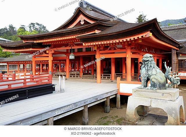 Itsukushima Shrine is a Shinto shrine on the island of Itsukushima popularly known as Miyajima, best known for its 'floating' torii gate