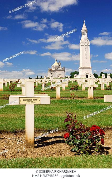France, Pas de Calais, Ablain Saint Nazaire, necropole de Notre Dame de Lorette, Tomb of the Unknown Soldier French died for France during the first war to war...