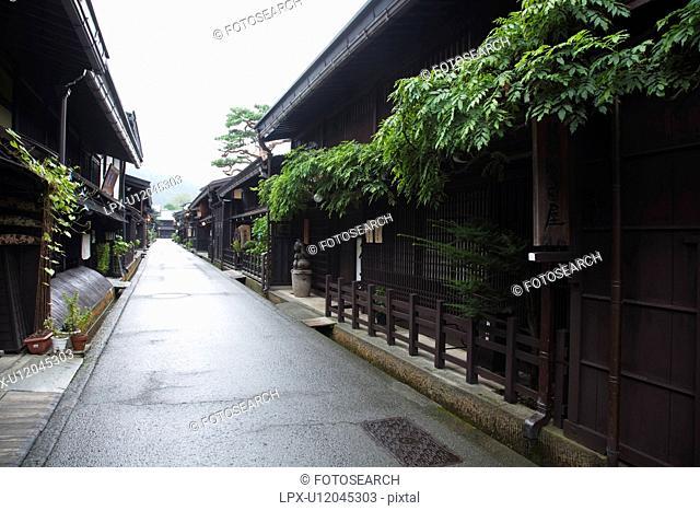 Cityscape of Takayama city, Gifu Prefecture, Honshu, Japan