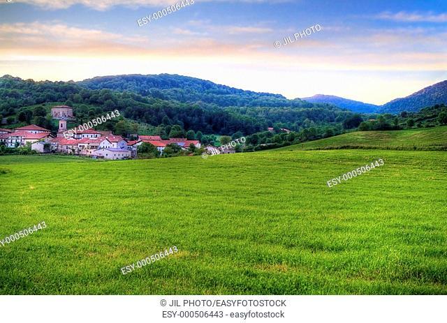 Mountain village. Aldatz. Navarra. Basque Country. Spain