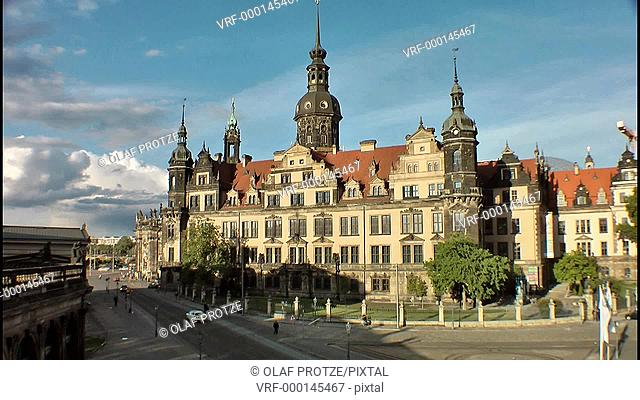 Historical Castle of Dresden, East Germany