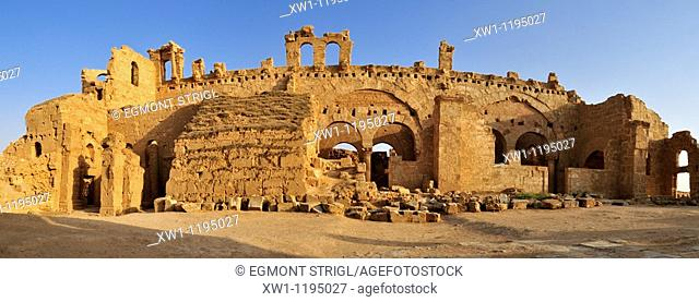byzantine church ruin at the archeological site of Resafa, Sergiopolis, near the Euphrates, Syria, Middle East, West Asia