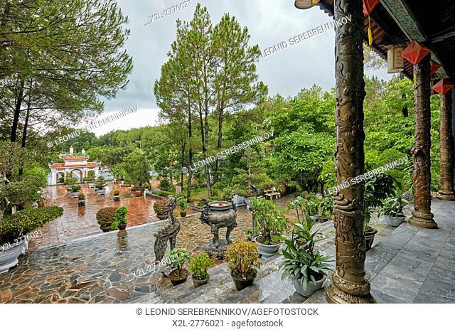Territory of the Huyen Tran Cultural Center. Hue, Vietnam