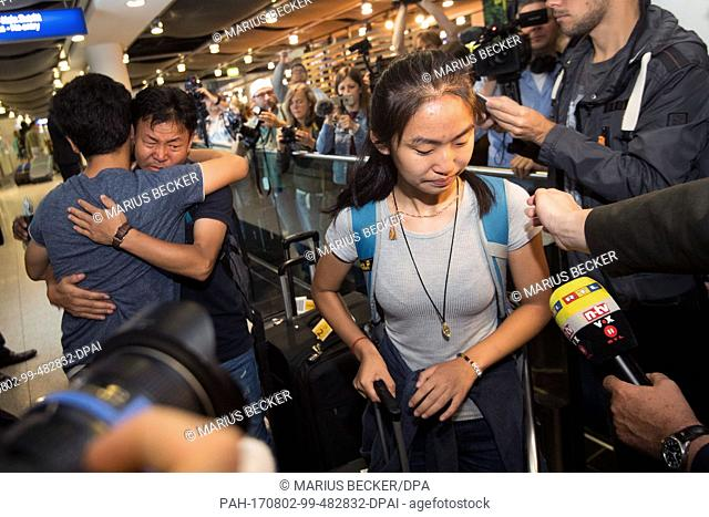 Schoolgirl Bivsi Rana arrives to the airport in Dusseldorf, Germany, 02 August 2017. The schoolgirl and her family were deported to Nepal two months ago