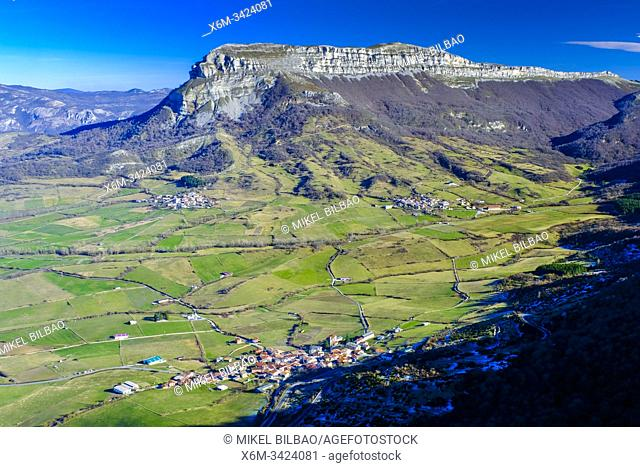 Monte Beriain mountain from San Adrian shrine. Urbasa-Andia Natural Park. Navarre, Europe