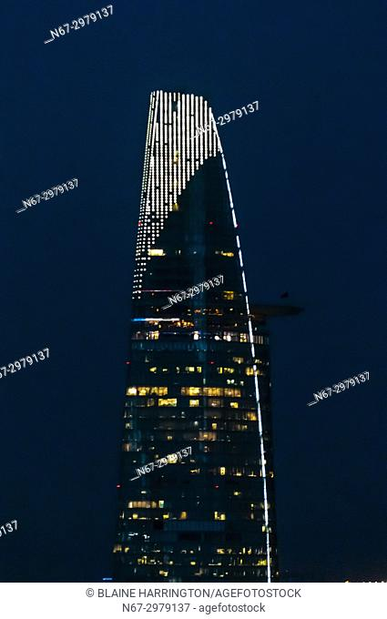Bitexco Financial Tower, At 68 stories, it is the tallest building in HCMC and the third tallest in Vietnam). Central Financial District, Ho Chi Minh City