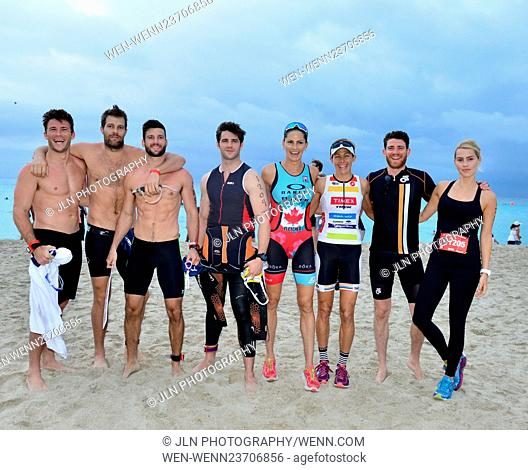 Celebrities and participants take part in Life Time South Beach Triathlon benefiting the St. Jude Children Hospital at Lummus Park Featuring: Scott Eastwood