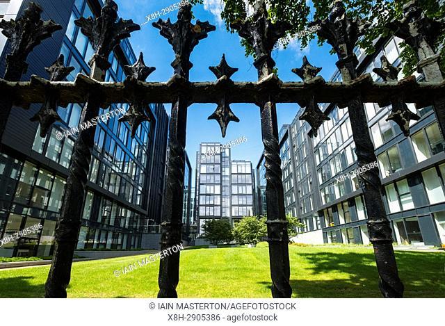 View of new Quartermile luxury residential property development in Edinburgh, Scotland, UK