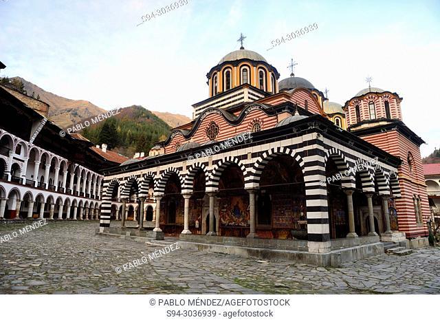 Church of the Virgin in Rila Monastery, Rila mountains, Bulgaria