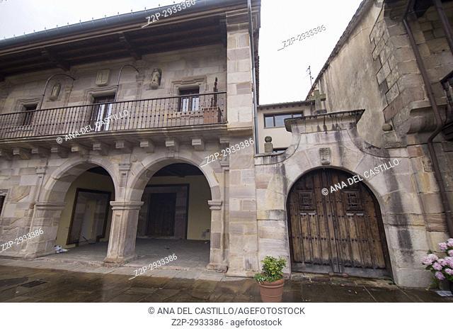 Riocorvo medieval village in Cantabria Spain