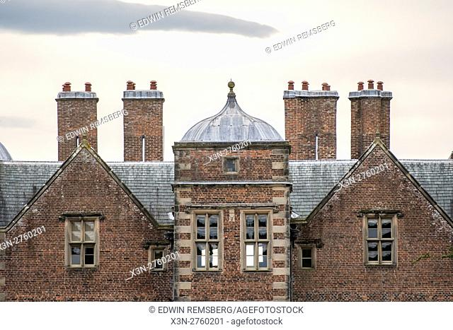 UK, England, Yorkshire - Old architecture on the grounds of the historic Kiplin Hall in Yorkshire, England