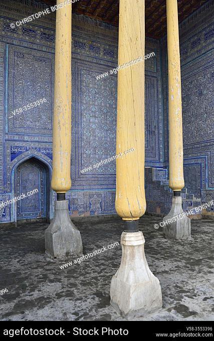 Uzbekistan, Khorezm, Khiva, Unesco World Heritage Site, Old city of Itchan Qala, Citadel of Kunya Ark (Khoukna Ark), The palace