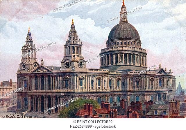 'St. Paul's Cathedral', c1910. Artist: Unknown