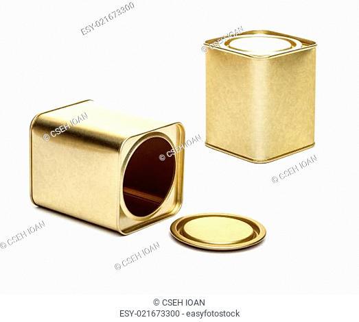 Small metal tea box