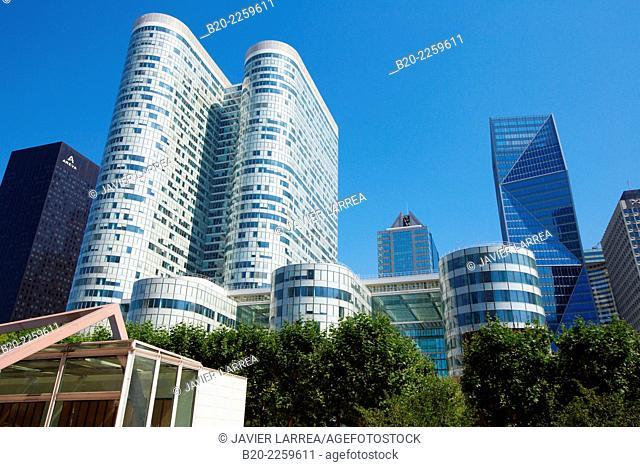 Office buildings. La Defense. Paris. France. Europe