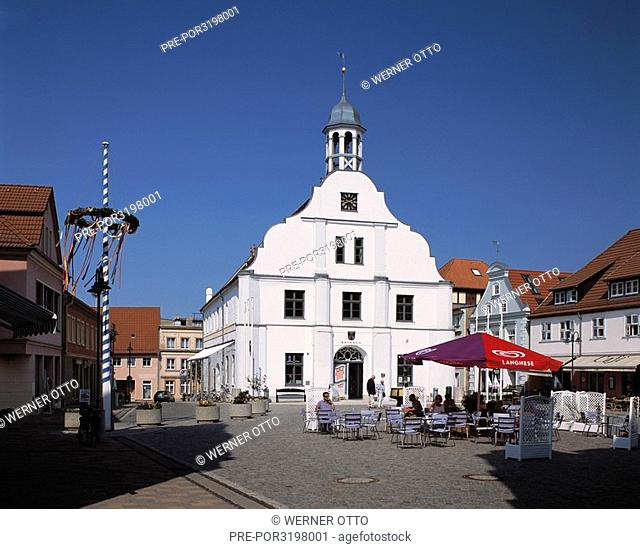 City hall in Wolgast, Peenestrom, Baltic Sea, Mecklenburg-Western Pomerania, Germany, Europe