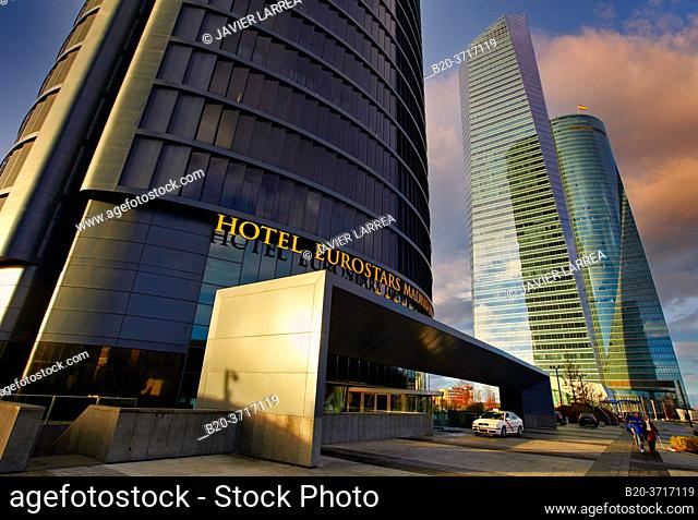 Eurostars Madrid Tower Hotel, CTBA, Cuatro Torres Business Area, Madrid, Spain, Europe
